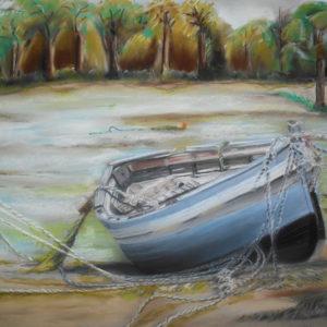 La Barca - Pastel / 50X65